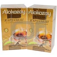 Чай черный пакетированный   25 шт в индивидуальной упак КАРДАМОН   ''ALOKOZAY''   1/24