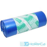 Мешок (пакет) мусорный 180л 900х1100 мм 70 мкм в рулоне ПВД СИНИЙ /\/\/\/\|/\/ 1/25