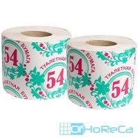Бумага туалетная   1-сл 1 рул/уп 54 м стандарт СЕРАЯ   1/40
