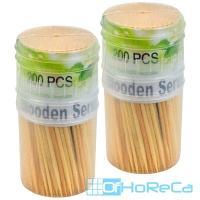Зубочистки   Н65 мм 200 шт/уп в пластиковом стаканчике без индивидуальной упак   1/12/240