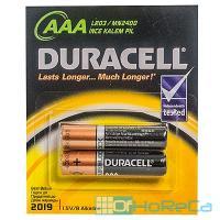Батарейка AAA   2 шт/уп DURACELL в блистере   1/10