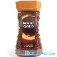 Кофе растворимый   190г NESCAFE GOLD в стекле   ''NESTLE''   1/1