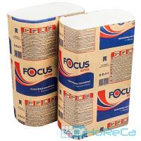 Полотенце бумажное листовое   225х240 мм 2-сл 200 шт/уп Z-сложения FOCUS EXTRA с тиснением БЕЛОЕ   ''HAYAT''   1/12