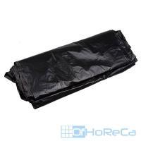 Мешок (пакет) мусорный   180л 900х1100 мм 80 мкм в пластах ПВД ЧЕРНЫЙ   1/50/200