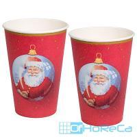 Стакан бумажный 200мл D70 мм 1-сл для горячих напитков ДЕД МОРОЗ PAPSTAR 1/10/140