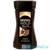 Кофе растворимый с молотым   85г NESCAFE GOLD BARISTA в стекле   ''NESTLE''   1/1