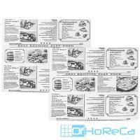 Бумага оберточная   ДхШ 320х250 мм жиростойкая с печатью NEWSPAPER для гамбургера   1/1000/7000