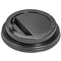 Крышка для стакана D90 мм с закрытым питейником PS ЧЕРНАЯ 1/100/1000