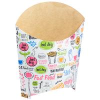 Упаковка для картофеля фри ДхШхВ 105х50х110 мм с дизайном ENJOY КАРТОННАЯ GDC 1/50/1200