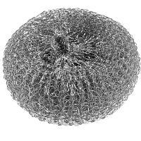 Губка (мочалка) для мытья посуды металлическая D100 мм 1 шт/уп 40 г MEGA МЕТАЛЛ YORK 1/80