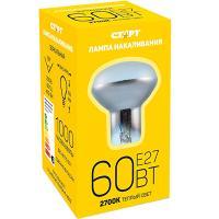 Лампа накаливания Е27 теплый свет 60ВТ 220V R63 ЗЕРКАЛЬНАЯ СТАРТ 1/10