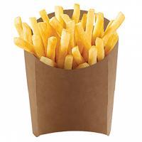 Упаковка для картофеля фри ДхШхВ 126х50х135 мм КРАФТ темный GDC 1/50/1000