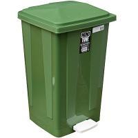 Контейнер мусорный прямоугольный 48л ДхШхВ 420х375х630 мм с педалью ПЛАСТИК ЗЕЛЕНЫЙ BORA 1/1