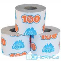 Бумага туалетная 1-сл 1 рул/уп 100 м стандарт LOTOS MAXI СЕРАЯ 1/24