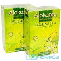 Чай зеленый листовой   100г С ЦВЕТКАМИ ЖАСМИНА   ''ALOKOZAY''   1/40