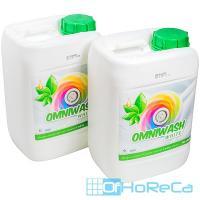 Средство для стирки жидкое 5л для белых тканей концентрат OMNI WASH WHITE CID LINES 1/4