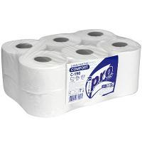 Бумага туалетная 1-сл 200 м в рулоне*12 Н90хD170 мм БЕЛАЯ PROtissue 1/1