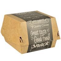 Упаковка для гамбургера ДхШхВ 90х90х70 мм с дизайном GOOD FOOD! ЭКО КАРТОН PAPSTAR 1/125/500