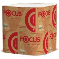 Бумага туалетная листовая 2-сл 250 лист/уп ДхШ 250х110 мм V-сложения FOCUS PREMIUM БЕЛАЯ HAYAT 1/30