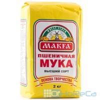 Мука пшеничная 2кг МАКФА высший сорт МКФ 1/6