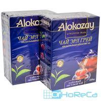 Чай черный листовой   100г EARL GREY с ароматом бергамота   ''ALOKOZAY''   1/40
