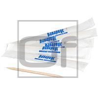 Зубочистки брендированные   Н65 мм 1000 шт/уп БАВАРИУС в индивидуальной упак   ''ЛПХС''   1/30