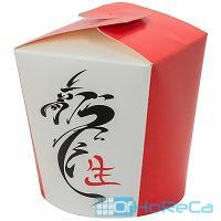 Контейнер бумажный CHINA PACK   450мл Н100хD83 мм с декором КИТАЙСКИЙ ДРАКОН   1/50/500