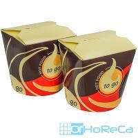 Контейнер бумажный CHINA PACK   750мл Н101хD100 мм с декором TO GO   ''PAPSTAR''   1/50/500