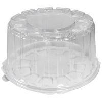 Упаковка кондитерская (тортница) Н116хD226 мм на 0,9 кг круглая дно+крышка К 1/190