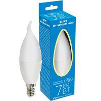 Лампа светодиодная E14 теплый свет 7W 220V пламя СТАРТ 1/10
