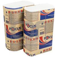 Полотенце бумажное листовое   225х240 мм 2-сл 200 шт/уп Z-сложения FOCUS EXTRA с тиснением БЕЛОЕ   ''HAYAT''   1/100