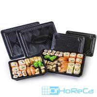 Упаковка для суши ДхШхВ 222х161х30 мм без крышки прямоугольная ЧЕРНАЯ KD 1/500