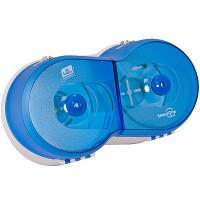 Диспенсер ДхШхВ 416х181х238 мм WAWE для туалетной бумаги TORK SMARTONE (арт.472027) ПЛАСТИКОВЫЙ СИНИЙ Б/У SCA 1/1