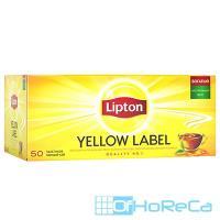 Чай черный пакетированный   50 шт/уп LIPTON YELLOW LABEL   1/1