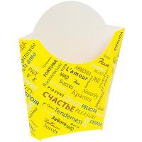 Упаковка для картофеля фри ДхШхВ 90х34х125 мм с дизайном FIESTA КАРТОННАЯ PPS 1/500