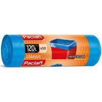 Мешок (пакет) мусорный 120л 700х1100 мм 20 мкм в рулоне ПНД СИНИЙ PACLAN 1/10/350