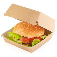 Упаковка для гамбургера ДхШхВ 115х115х60 мм КРАФТ 1/100/200