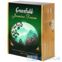 Чай зеленый пакетированный 100 шт в индивидуальной упак GREENFIELD FIYING DRAGON 1/9