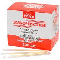 Зубочистки Н65 мм 500 шт/уп МЕНТОЛОВЫЕ в пленке в индивидуальной упак 1/100