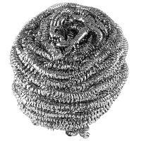 Губка (мочалка) для мытья посуды металлическая спиральная D65 мм 1 шт/уп 27 г MAXI МЕТАЛЛ YORK 1/100