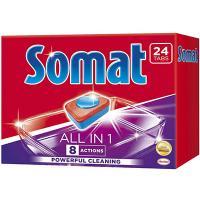 Таблетки универсальные 24 шт/уп для посудомоечных машин SOMAT ALL IN ONE HENKEL 1/7