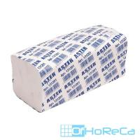 Полотенце бумажное листовое 2-сл 200 лист/уп 210х240 мм V-сложения ASTER PRO V2 F БЕЛОЕ ASTER 1/20
