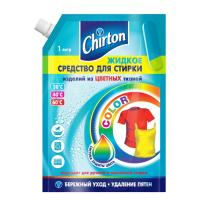 Средство для стирки жидкое 1л для цветных тканей CHIRTON Doy-Pack GD 1/6