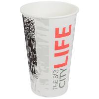 Стакан бумажный 400мл D90 мм 1-сл для горячих напитков BIG CITY LIFE PPS 1/50/1000