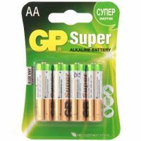 Батарейка AA 4 шт/уп GP SUPER в блистере 1/10