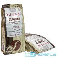 Кофе молотый   200г BURBON (Колумбийская арабика) мягкая упаковка   ''ЖИВОЙ КОФЕ''   1/1