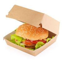 Упаковка для гамбургера ДхШхВ 120х120х70 мм КРАФТ 1/20/240