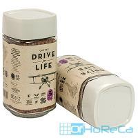 Кофе растворимый   100г DRIVE FOR LIFE EXTRA STRONG в стекле   ''ЖИВОЙ КОФЕ''   1/1