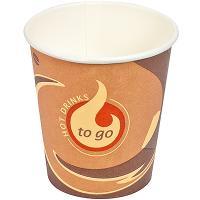 Стакан бумажный 180мл D72 мм 1-сл для горячих напитков TO-GO PAPSTAR 1/80/2000
