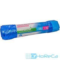 Мешок (пакет) мусорный   35л 15 шт/рул с завязками ПВД СИНИЙ   1/30